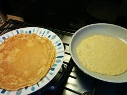 Kikkererwt spelt pannenkoeken